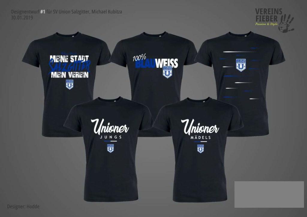 Design Entwürfe der T-Shirts